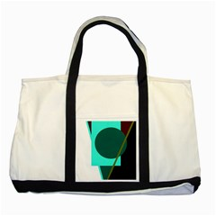 Geometric abstract design Two Tone Tote Bag