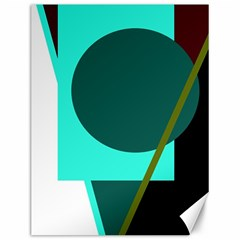 Geometric abstract design Canvas 12  x 16