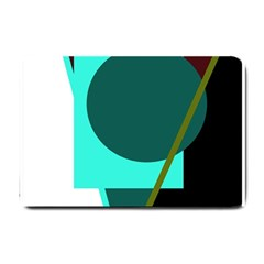 Geometric abstract design Small Doormat