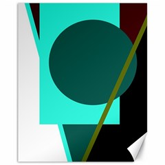 Geometric abstract design Canvas 11  x 14