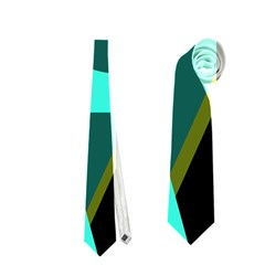 Geometric abstract design Neckties (Two Side)