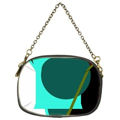 Geometric abstract design Chain Purses (One Side)