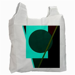 Geometric abstract design Recycle Bag (Two Side)