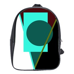 Geometric abstract design School Bags(Large)
