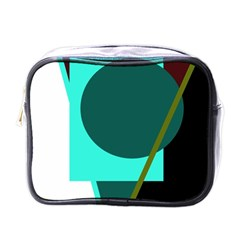 Geometric abstract design Mini Toiletries Bags