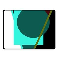 Geometric abstract design Fleece Blanket (Small)