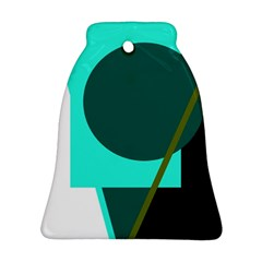 Geometric abstract design Bell Ornament (2 Sides)