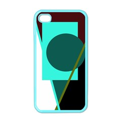 Geometric abstract design Apple iPhone 4 Case (Color)