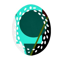 Geometric abstract design Oval Filigree Ornament (2-Side)