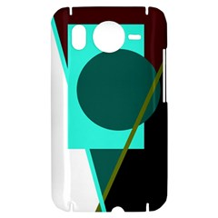 Geometric abstract design HTC Desire HD Hardshell Case
