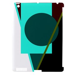 Geometric abstract design Apple iPad 3/4 Hardshell Case (Compatible with Smart Cover)