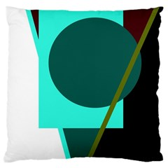 Geometric abstract design Large Cushion Case (One Side)