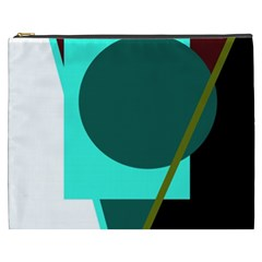Geometric abstract design Cosmetic Bag (XXXL)