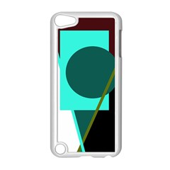 Geometric abstract design Apple iPod Touch 5 Case (White)