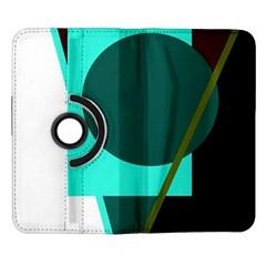 Geometric abstract design Samsung Galaxy Note II Flip 360 Case