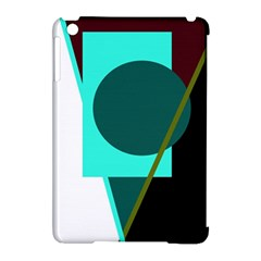 Geometric abstract design Apple iPad Mini Hardshell Case (Compatible with Smart Cover)