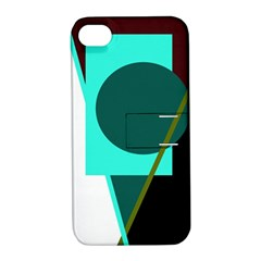 Geometric Abstract Design Apple Iphone 4/4s Hardshell Case With Stand