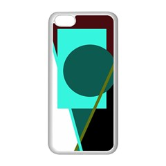Geometric abstract design Apple iPhone 5C Seamless Case (White)