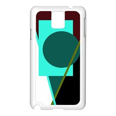 Geometric abstract design Samsung Galaxy Note 3 N9005 Case (White)