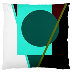 Geometric abstract design Standard Flano Cushion Case (One Side)