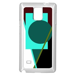 Geometric abstract design Samsung Galaxy Note 4 Case (White)