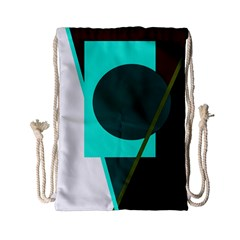 Geometric abstract design Drawstring Bag (Small)