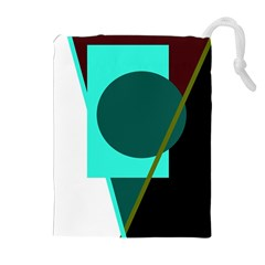 Geometric abstract design Drawstring Pouches (Extra Large)