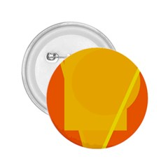 Orange abstract design 2.25  Buttons