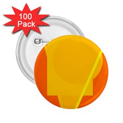 Orange abstract design 2.25  Buttons (100 pack)