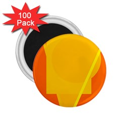 Orange abstract design 2.25  Magnets (100 pack)