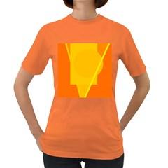 Orange abstract design Women s Dark T-Shirt