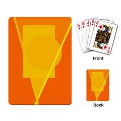 Orange abstract design Playing Card