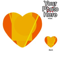 Orange abstract design Multi-purpose Cards (Heart)