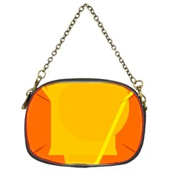 Orange abstract design Chain Purses (One Side)