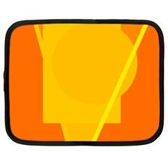 Orange abstract design Netbook Case (XXL)