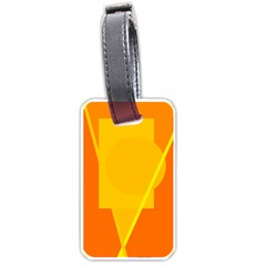Orange abstract design Luggage Tags (Two Sides)