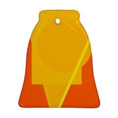 Orange abstract design Bell Ornament (2 Sides)