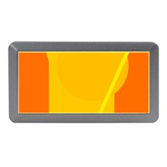 Orange abstract design Memory Card Reader (Mini)