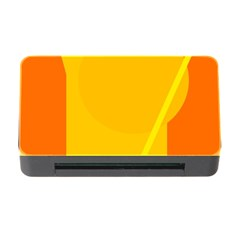 Orange abstract design Memory Card Reader with CF
