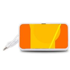 Orange abstract design Portable Speaker (White)