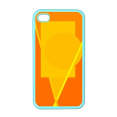 Orange abstract design Apple iPhone 4 Case (Color)
