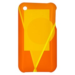 Orange abstract design Apple iPhone 3G/3GS Hardshell Case