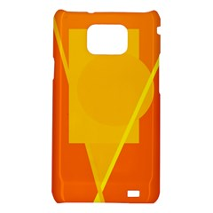 Orange abstract design Samsung Galaxy S2 i9100 Hardshell Case