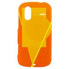 Orange abstract design HTC Amaze 4G Hardshell Case