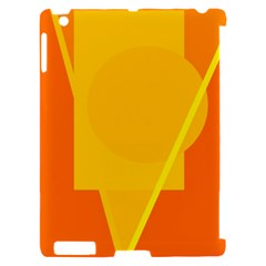 Orange abstract design Apple iPad 2 Hardshell Case (Compatible with Smart Cover)