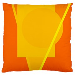Orange abstract design Large Cushion Case (Two Sides)