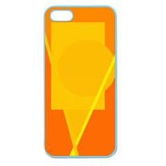 Orange abstract design Apple Seamless iPhone 5 Case (Color)