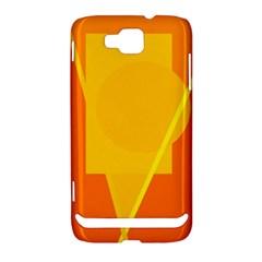 Orange abstract design Samsung Ativ S i8750 Hardshell Case