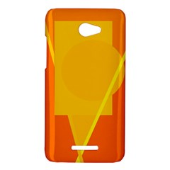 Orange abstract design HTC Butterfly X920E Hardshell Case
