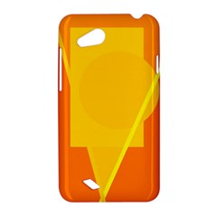 Orange abstract design HTC Desire VC (T328D) Hardshell Case
